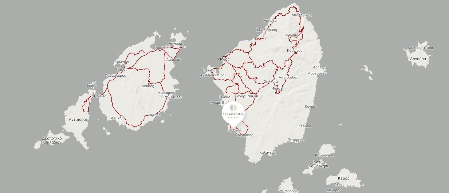 Finikas hotel map